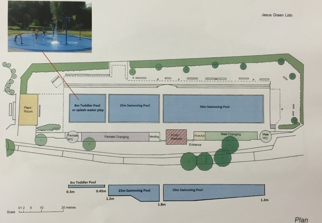 Jesus Green Pool - 3 pool proposal