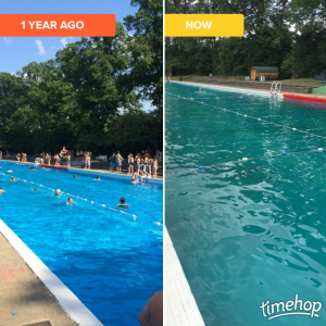 Timehop now and a year ago