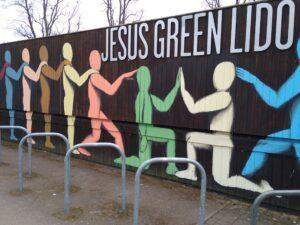 Jesus Green Lido Mural by Giacomo Bufarini,